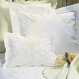Sweet William Embroidered Sheets, Duvet Covers | Gracious Style