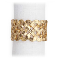 Gold Braid Napkin Rings by L'Objet | Gracious Style
