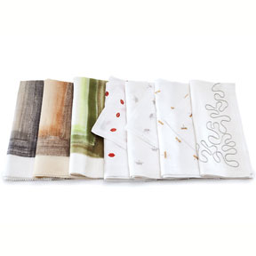 Kim Seybert Brushstroke and Icon Linen Napkins &#124; Gracious Style