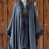 Alpaca Cape with Fur Trim | Gracious Style