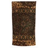 Casbah Rug Cocoa Gold Cotton Bath Towels by Fresco | Gracious Style