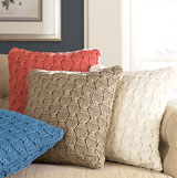 Charlotte Knitted Throw Pillow, Sham and Throw | Gracious Style