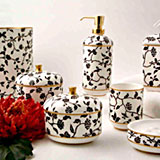 Chengtu Bath Accessories Bone China Floral Pattern | Gracious Style