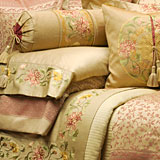 Chrysanthemum Embroidered Sheets, Duvet Cover, Shams | Gracious Style