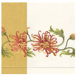 Chrysanthemum Linen Hand Towels Embroidered &#124; Gracious Style