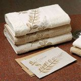 Copper Breeze Embroidered Towels by Anali &#124; Gracious Style