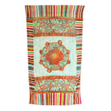 Coral Reef Aqua Cotton Beach Towel by Fresco | Gracious Style