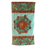 Coral Reef Aqua Cotton Bath Towels by Fresco | Gracious Style