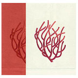 Coral Hand Towels Embroidered Linen | Gracious Style