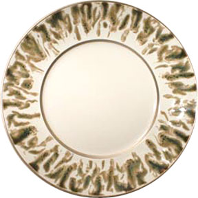 Jaune de Chrome Cream Scale Gold Dinnerware | Gracious Style