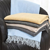 Crescent Cashmere Throw Blanket | Gracious Style