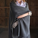 Alpaca Cape with Crochet Trim | Gracious Style