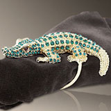 L'Objet Crocodile Gold Napkin Rings | Gracious Style