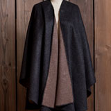 Reversible Alpaca Cape with Crochet Trim | Gracious Style