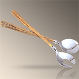 Evoca Gold Salad and Cake Servers | Gracious Style
