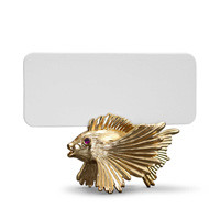 Fish Gold Placecard Holders, Six