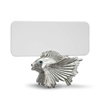 Fish Platinum Placecard Holders, Six