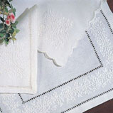 French Knot Tablecloth, Napkins, Table Runners Embroidered Linen &#124; Gracious Style