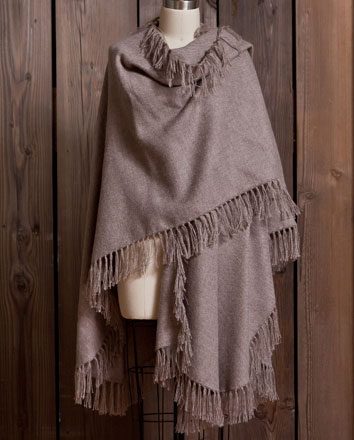 Alpaca Cape with Fringe Trim | Gracious Style