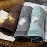 Ginkgo Embroidered Towels by Anali | Gracious Style