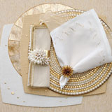 Kim Seybert Glam Rock Gold Table Setting | Gracious Style