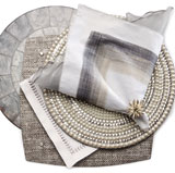 Kim Seybert Glam Rock Silver Table Setting | Gracious Style
