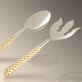L'Objet Gold Braid Salad Serving Set | Gracious Style