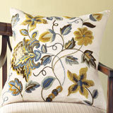 Hayes Throw Pillows Floral Linen | Gracious Style