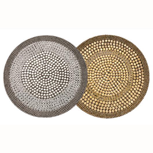 kim seybert heavy metal round placemats