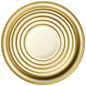 J.L. Coquet Hemisphere Gold Stripe Dinnerware &#124; Gracious Style