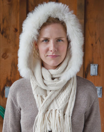 Alpaca Hoodie with Fur Trim | Gracious Style