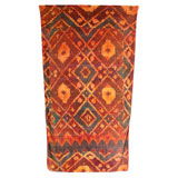 Ikat Diamond Gold Cotton Beach Towel by Fresco | Gracious Style