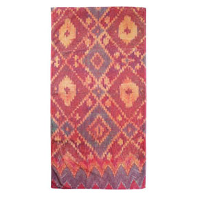 Ikat Diamond Gold Cotton Bath Towels by Fresco &#124; Gracious Style