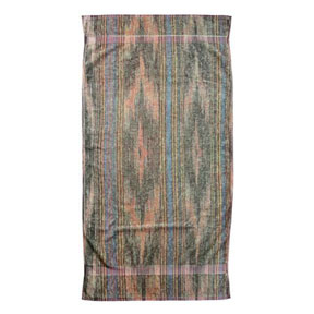 Ikat Stripes Gray Cotton Bath Towels by Fresco | Gracious Style