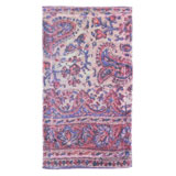 Indian Paisley Blue Cotton Bath Mats by Fresco | Gracious Style