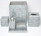 Marble Grey Bath Accessories by Waylande Gregory| Gracious Style