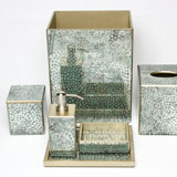 Mosaic Aqua Bath Accessories by Waylande Gregory| Gracious Style