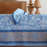 Linen Way Versailles Blue Table Linens &#124; Gracious Style