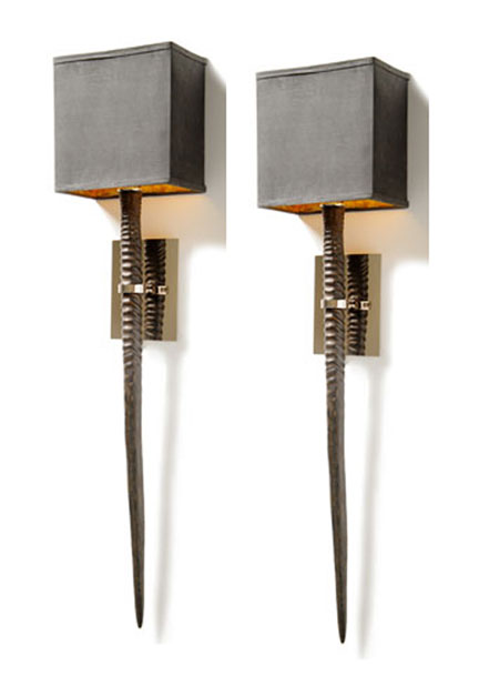 Barbara Cosgrove Natural Horn Sconces - Pair | Gracious Style