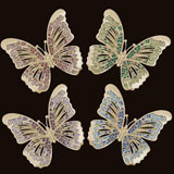 Gold Butterfly Napkin Rings with Swarovski Crystals | Gracious Style