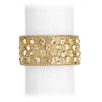 Pave Band Gold Crystal Napkin Rings