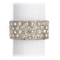 Pave Band Platinum Crystal Napkin Rings