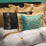 Peacock Embroidered Bedding by Anali | Gracious Style