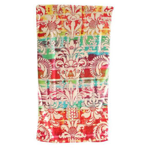 Rainbow Damask Cotton Bath Towels by Fresco | Gracious Style
