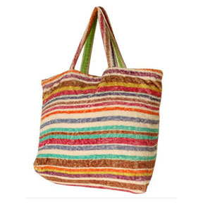 Rainbow Stripes Terry Tote Bag by Fresco | Gracious Style