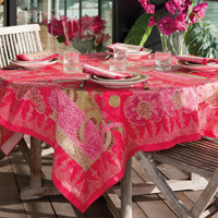 Rialto Fuchsia Table Linens