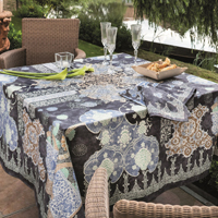 Rialto Graphite Table Linens