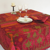 Rialto Garnet Red Table Linens