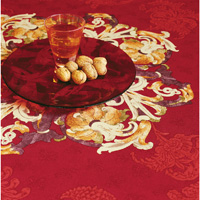 Ponte Vecchio Red Table Linens