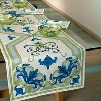 Trianon Cream/Blue Table Linens